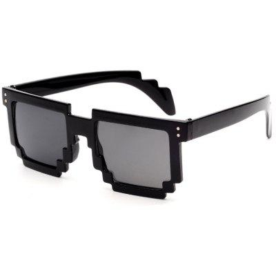 Gearbest Unisex Anti-UV Polarized Mosaic Style Sunglasses  -  BLACK
