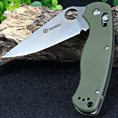 Ganzo G729-GR Axis Lock Folding Knife Pocket Clip