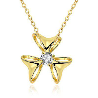 N133 - A Zircon Necklace Fashion Jewelry 24K Gold Plating Necklace