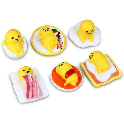 6Pcs Gudetama Action Figure Child Toy Christmas Gift