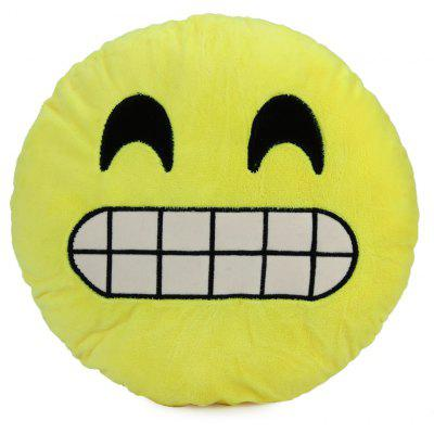 Buy 33cm Emoji Smiley Emotion Round Plush Cushion Pillow Funny Emotion Doll YELLOW GRINNING for $5.63 in GearBest store