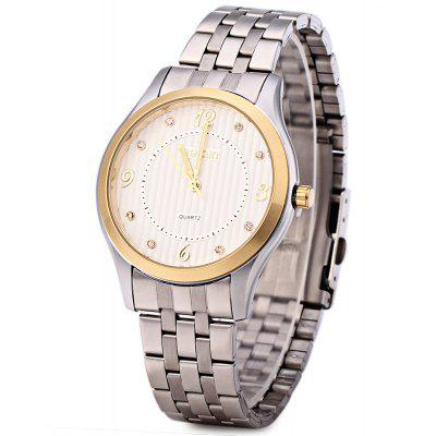 WeiQin W00117 Rhinestone Steel Luminous Quartz Watch for Men