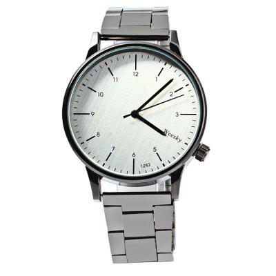 Weesky 1282G Stainless Steel Band Men Quartz WatchMens Watches<br>Weesky 1282G Stainless Steel Band Men Quartz Watch<br><br>Available Color: Silver<br>Band material: Stainless Steel<br>Brand: Weesky<br>Case material: Stainless Steel<br>Clasp type: Folding clasp with safety<br>Display type: Analog<br>Movement type: Quartz watch<br>Package Contents: 1 x Weesky 1282G Watch<br>Package size (L x W x H): 21 x 5 x 1.8 cm / 8.25 x 1.97 x 0.71 inches<br>Package weight: 0.117 kg<br>Product size (L x W x H): 20 x 4 x 0.8 cm / 7.86 x 1.57 x 0.31 inches<br>Product weight: 0.067 kg<br>Shape of the dial: Round<br>The band width: 1.8 cm / 0.71inches<br>The dial diameter: 4.0 cm / 1.57 inches<br>The dial thickness: 0.8 cm / 0.31 inches<br>Watch style: Fashion<br>Watches categories: Male table