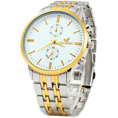 Orlando Z400 Golden Case Quartz Watch for Men