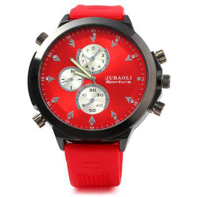 Jubaoli Men Quartz Watch with Rubber Band Big Dial