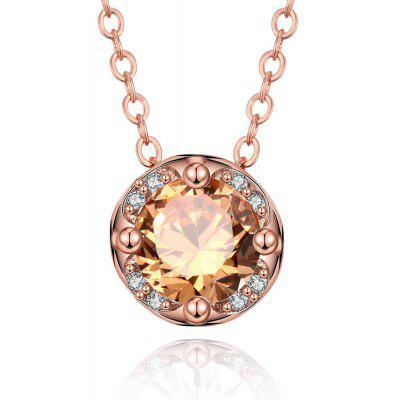 N135 - B Zircon Necklace Fashion Jewelry Rose Gold Plating Necklace