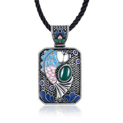 N010-C Ladies Carp Pattern National Style Necklace