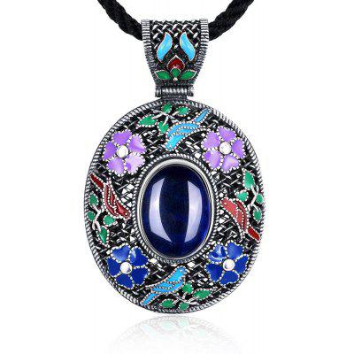 N017-A Antique Geometric Pattern National Style Women Necklace