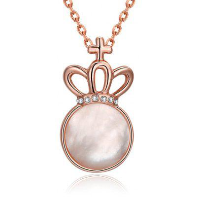 Buy ROSE GOLD N923-B Rose Gold Plated Geometric Pattern Necklace for $5.86 in GearBest store