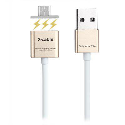 WSKEN 1M Dual Metal Micro USB Magnetic Cable
