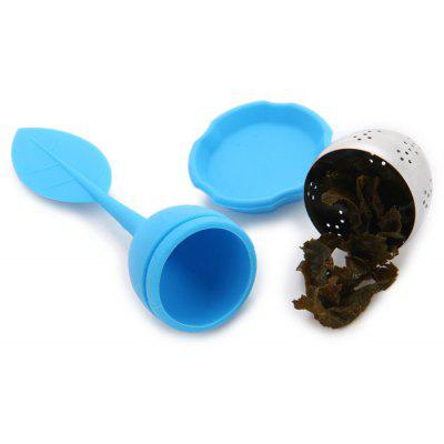 Novel Leaf Handle Silicone Tea Strainer Infuser