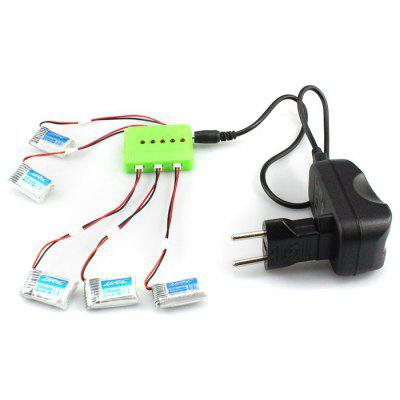 KH20 - 004 5 in 1 Balance Charger 5Pcs 3.7V 150mAh 30C Battery Set for Remote Control JJRC H20 H20H Hexacopter