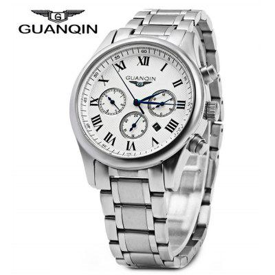 GUANQIN Men Calendar Quzrtz Watch