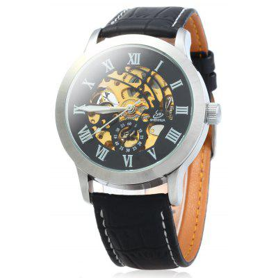 SHENHUA 9269 Men Hollow Automatic Mechanical Watch