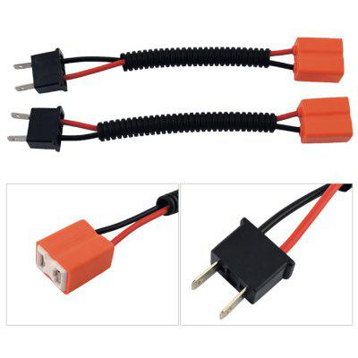 2 Pcs H7 Male to Female Wire Harness Sockets Extension Cable
