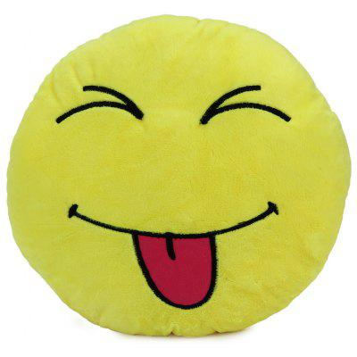 Buy 33cm Emoji Smiley Emotion Round Plush Cushion Pillow Funny Emotion Doll YELLOW HAPPY for $5.63 in GearBest store