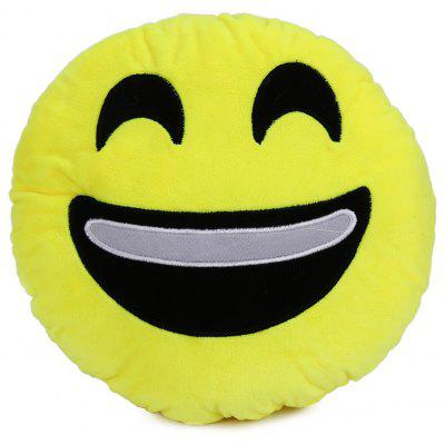 Buy 33cm Emoji Smiley Emotion Round Plush Cushion Pillow Funny Emotion Doll YELLOW LAUGH for $5.63 in GearBest store