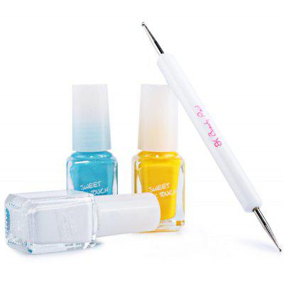 3 Candy Colors Set Nail Art Diy Nail Polish Kit With Nail Art Pen