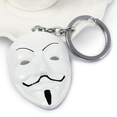 V for Vendetta Mask Shaped Metal Key Chain