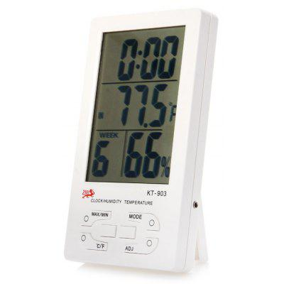 KT-903 5 in 1 Digital Temperature Humidity Meter / Calendar / Clock / Alarm