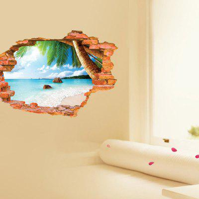 Buy COLORFUL Water Resistant Beach Style Removable Wall Sticker for $8.90 in GearBest store