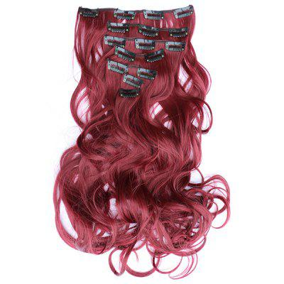 Trendy Shaggy Curly Synthetic Gorgeous Multicolor Long Hair Extension Suit For Women