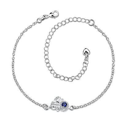 A038-A Delicate Handmade Silver Plated Anklet