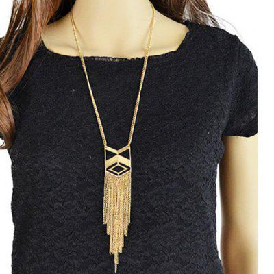 Vintage Geometric Hollow Out Sweater Chain