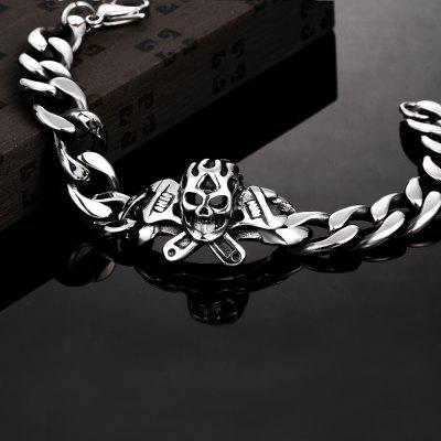 Fashion 316L Stainless Steel Man Bracelet Skull Pattern H012Mens Jewelry<br>Fashion 316L Stainless Steel Man Bracelet Skull Pattern H012<br>