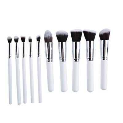 10pcs Makeup Cosmetics Liquid Foundation Blending Brush Set