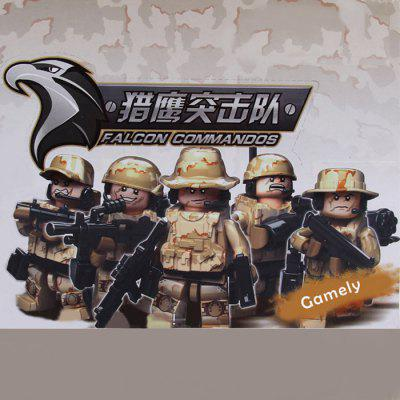 SENBAO Block 11213 Falcon Commandos with Black Base Falcon Desert Version for Kids 12Pcs / Set