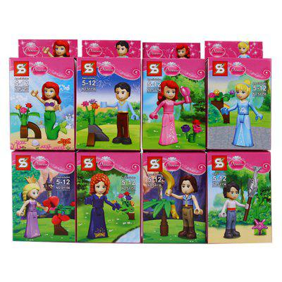 SY156 Block Princess Educational Toy for Children 16Pcs / SetModel &amp; Building Toys<br>SY156 Block Princess Educational Toy for Children 16Pcs / Set<br><br>Age: 6 Years+<br>Applicable gender: Unisex<br>Design Style: Cartoon<br>Features: Educational<br>Material: Plastic<br>Package Contents: 16 x Block Set<br>Package size (L x W x H): 34 x 17.5 x 15.5 cm / 13.36 x 6.88 x 6.09 inches<br>Package weight: 0.7 kg<br>Product Model: SY156<br>Puzzle Style: 3D Puzzle<br>Small Parts: Yes<br>Type: Building Blocks<br>Washing: Yes