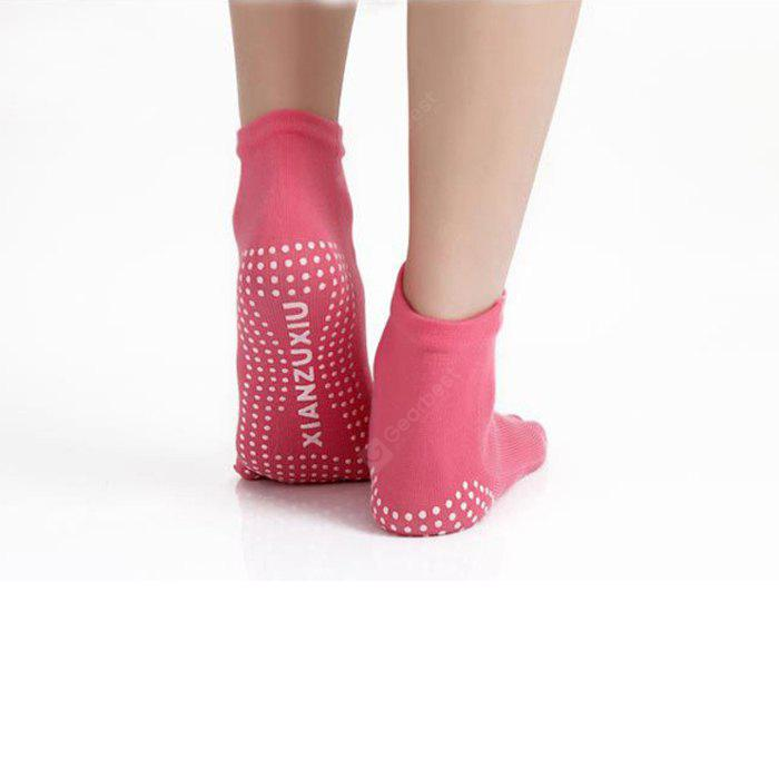 RED Women Yoga Toe Socks with Xianzuxiu Pattern