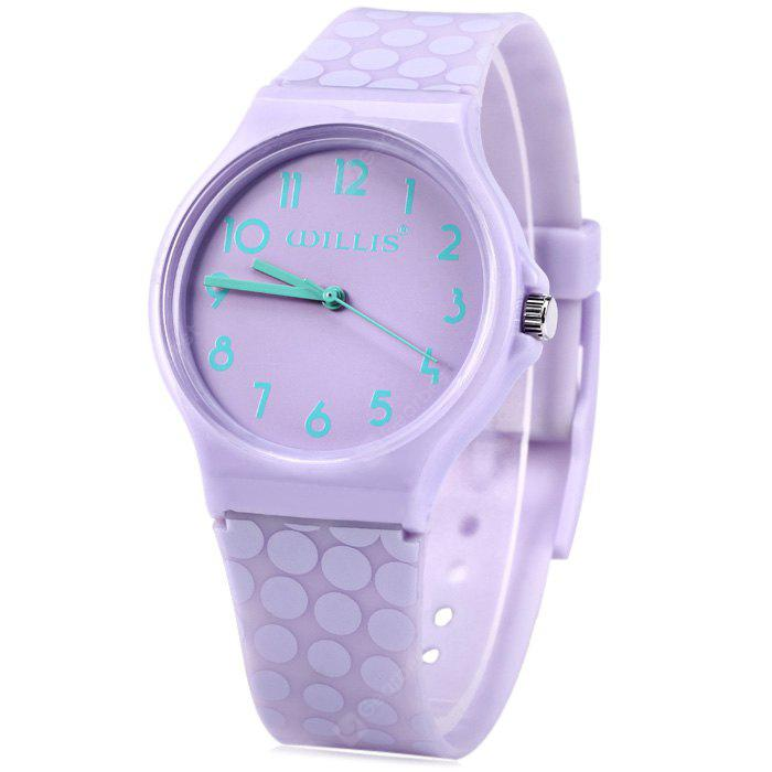 Willis Pure Color Women Quartz Watch with Plastic Strap