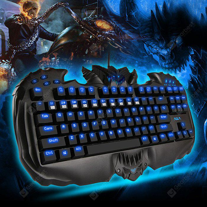 AULA NKRO Destroyer Gaming Mechanical Keyboard Red Switches