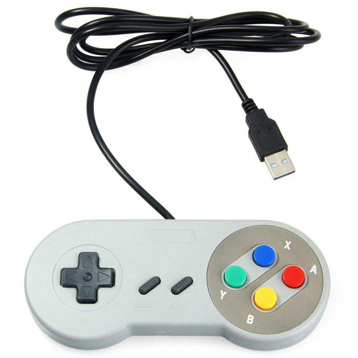 Classic USB Controller for SNES - GRAY COLORFUL FUNCTION BUTTONS (Only for new customers) в магазине GearBest