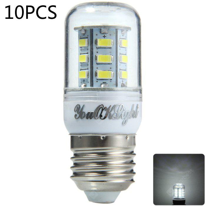10pcs YouOKLight E27 600Lm 7W SMD 5730 LED Corn Bulb Light