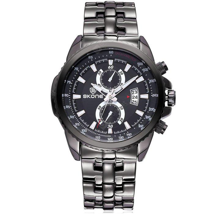Skone 2707 Luminous Male Japan Quartz Watch with Day Function