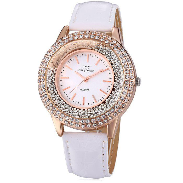 JYY 2743 Rolling Bead Female Diamond Quartz Watch