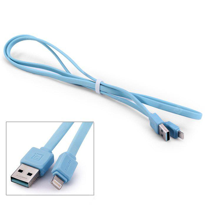 Original REMAX RC-008i 8 Pin USB Charge Sync Cable Flat Design - 100cm
