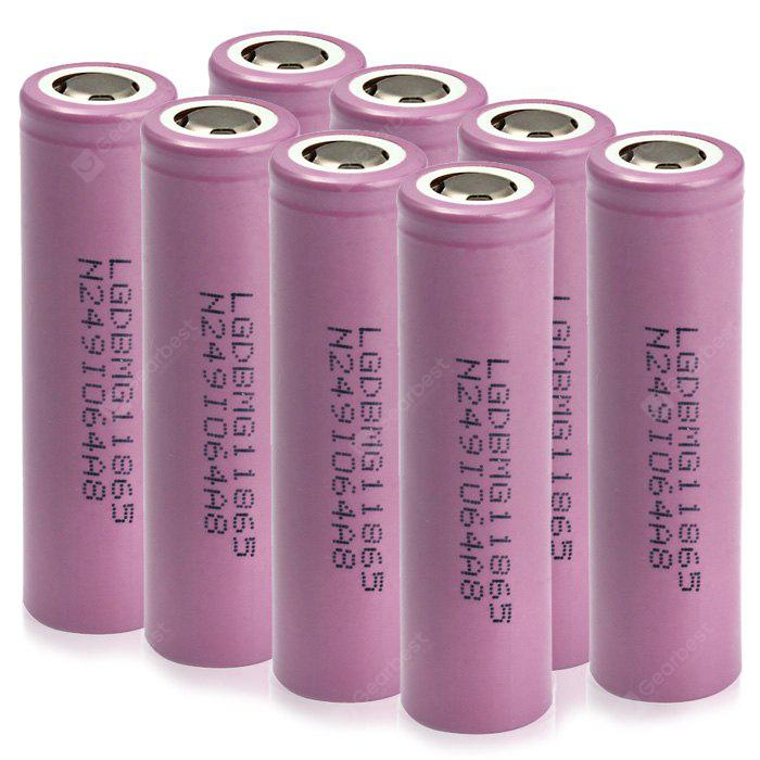 8PCS MG1 IMR 18650 3.7V 2900mAh Rechargeable Li-ion Battery