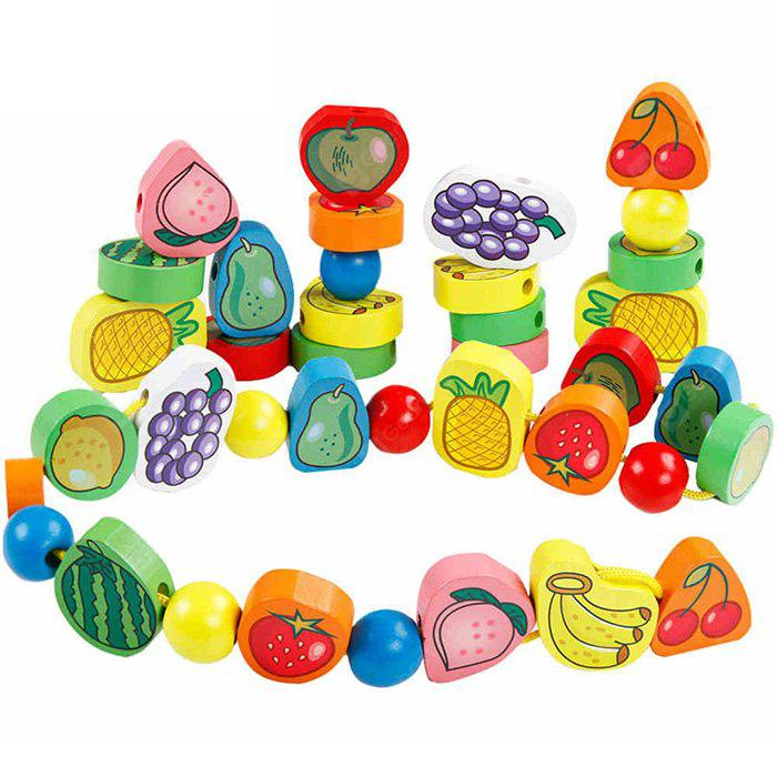 QZM Fruit Stringing Bead Stackable Building Block Improving Creativity