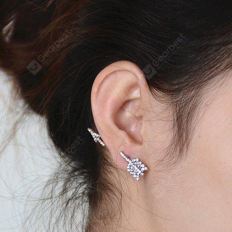 ONE PIECE Vintage Rhinestoned Arrow Shape Earring