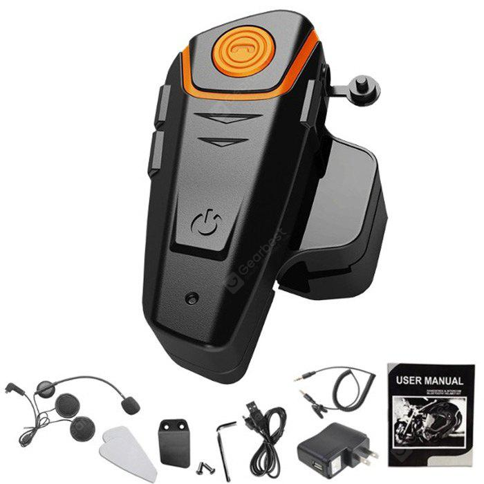 BT-S2 1000m Bluetooth Headset Motorcycle Intercom - AS THE PICTURE US PLUG