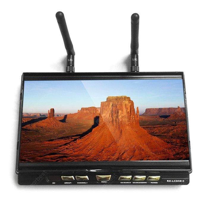 RX - LCD5812 FPV 7 Inch 40CH FPV Monitor Built-in 5.8GHz Receiver 1024 x 600 LCD Screen