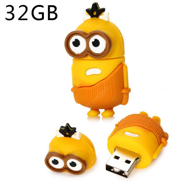 Big Eyes Bee-do Type 32GB USB 2.0 Stick - YELLOW 32GB