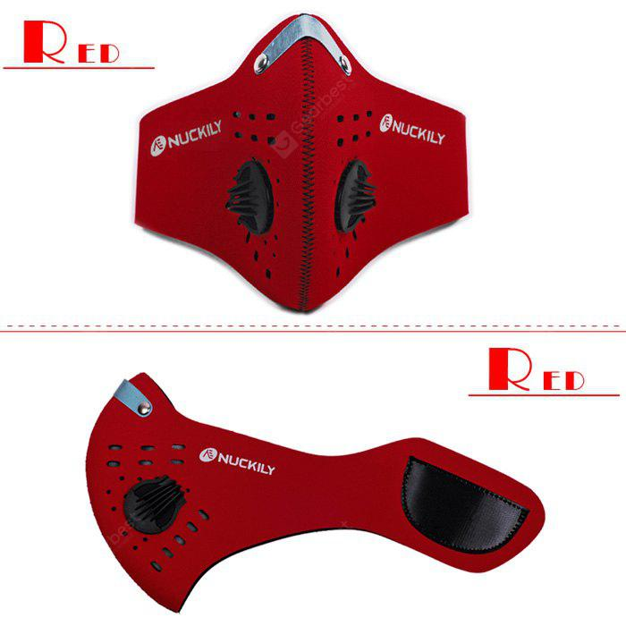 NUCKILY Filter Mask Activated Carbon PM 2.5 RED