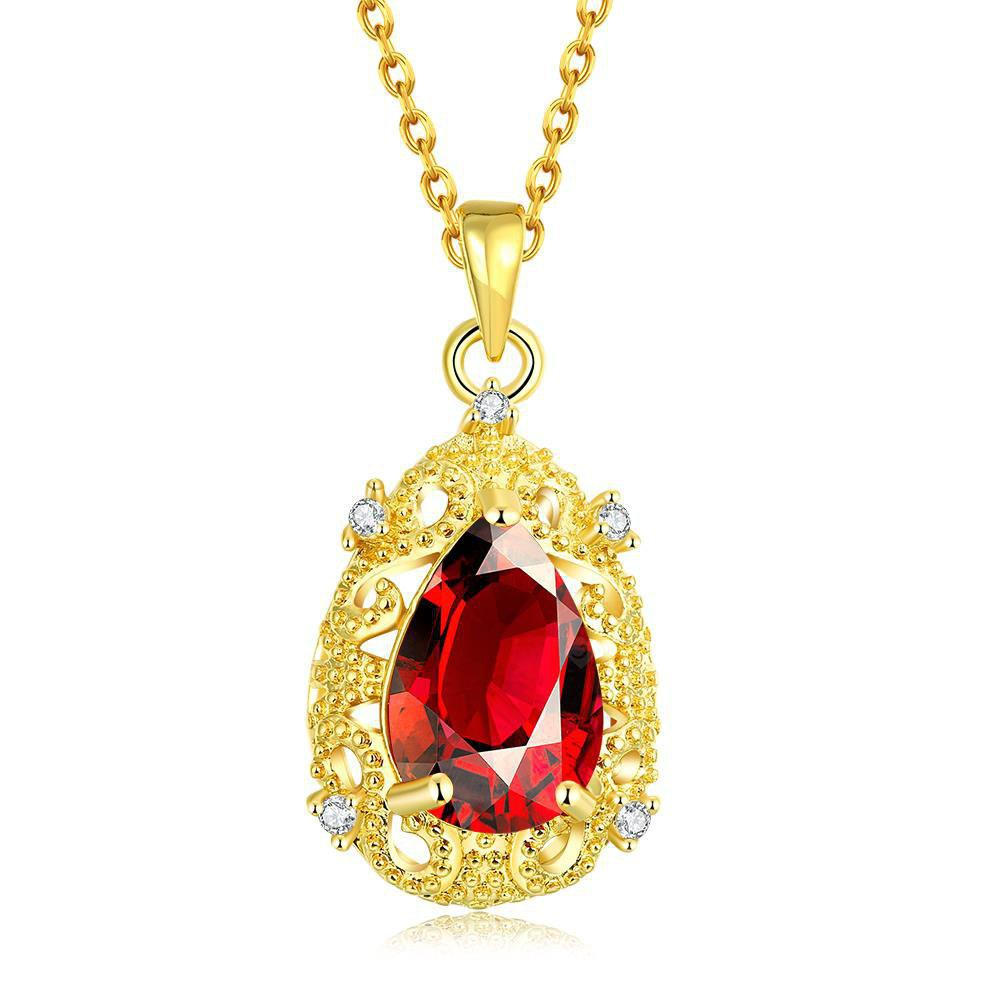 N108-A Zircon Necklace Fashion Jewelry 24K Gold Plating Necklace