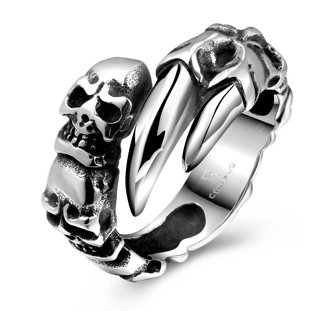 SILVER GRAY 10 R178 Cool Fashion 316L Stainless Steel Ring