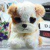 Lovely Big-eye Dog Feature Plush Toy Stuffed Doll Christmas Present - 15cm - WHITE